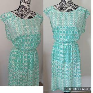 Dress Barn Tie Back Sleeveless Dress 1X
